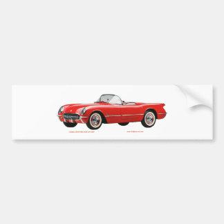 Classic_Chevrolet_Red_Corvette Adesivo Para Carro