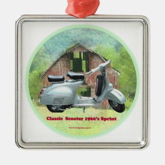 Classic_Scooter_1960's_Sprint Ornamento Quadrado Cor Prata