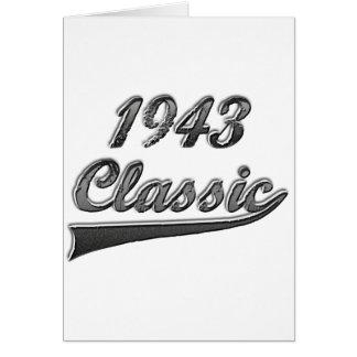 Clássico 1948 cartão comemorativo
