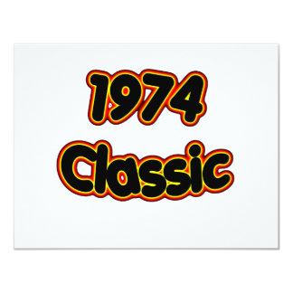 Clássico 1974 convites personalizados