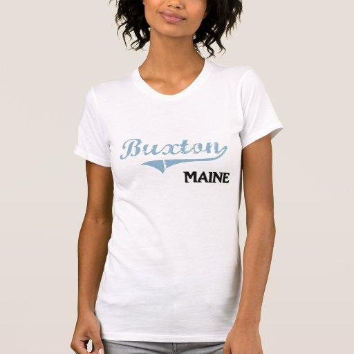 Clássico da cidade de Buxton Maine Tshirts