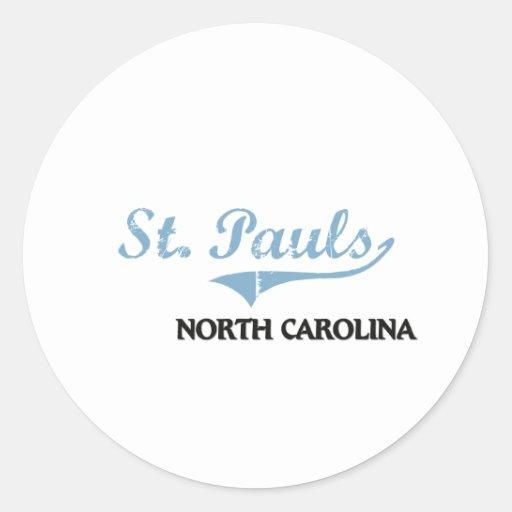 Clássico da cidade do St. Pauls North Carolina Adesivo Em Formato Redondo