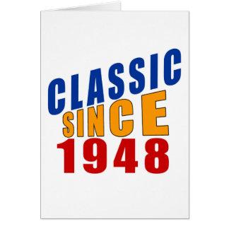 Clássico desde 1948 cartão comemorativo
