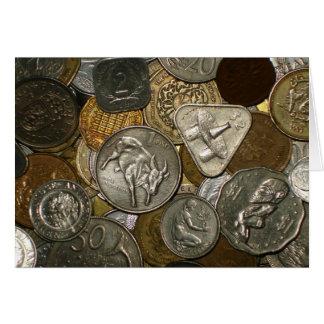 Clássico do cartão da moeda