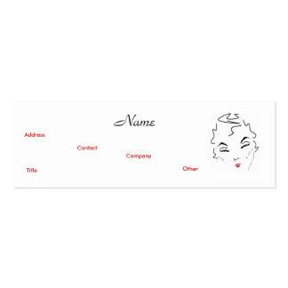 Clássico III do artista de composição Cartão De Visita Skinny