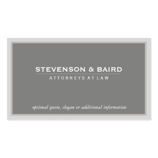 Clássico profissional cinzento elegante do cartão de visita