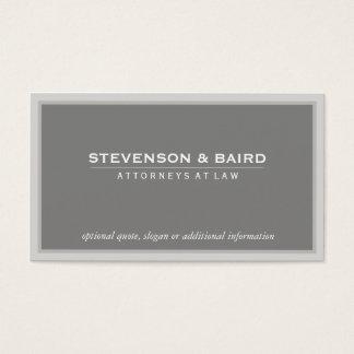 Clássico profissional cinzento elegante do cartão de visitas