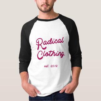 Clássico radical da roupa tshirt