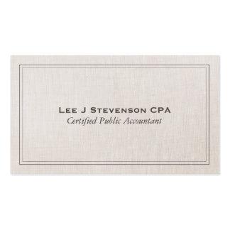 Clássico simples profissional de CPA do contador Cartão De Visita