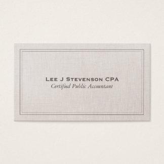 Clássico simples profissional de CPA do contador Cartão De Visitas
