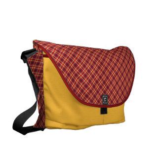 Clássico vermelho e amarelo bolsa mensageiro