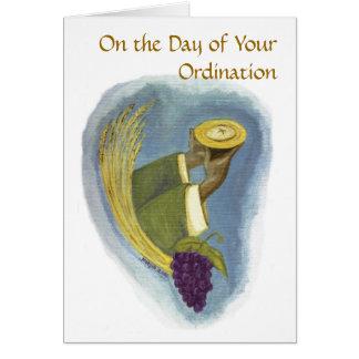 Classificação ao sacerdócio 01 cartão comemorativo