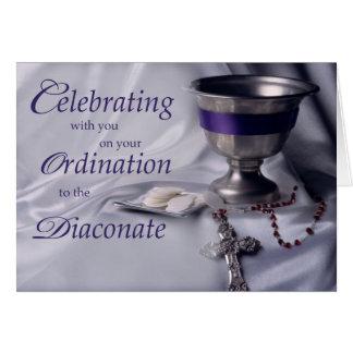 Classificação católica ao rosário do cálice do cartão comemorativo