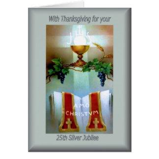 Classificação do aniversário do católico cartão comemorativo