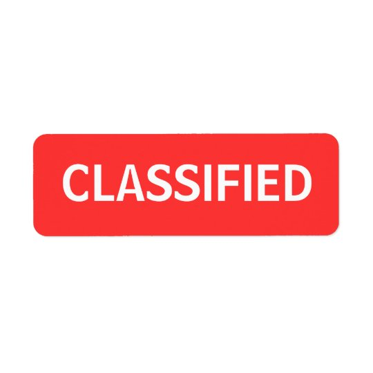 classificado etiqueta endereço de retorno