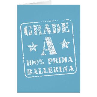 Classifique uma bailarina de Prima Cartão Comemorativo