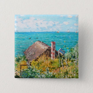 Claude Monet a cabine em belas artes do Bóton Quadrado 5.08cm