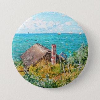 Claude Monet a cabine em belas artes do Bóton Redondo 7.62cm