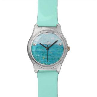 Claude Monet a cabine em belas artes do Relógio De Pulso