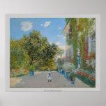 Claude Monet - a casa do artista em Argenteuil Impressão