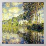 Claude Monet - álamos no Epte Impressão