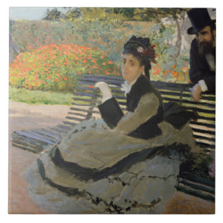 Claude Monet - Camilo Monet em um banco