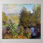 Claude Monet - canto do jardim em Montgeron Impressão