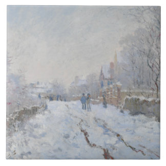 Claude Monet - cena da neve em Argenteuil