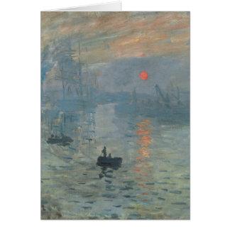 Claude Monet, impressão, soleil levant Cartão Comemorativo