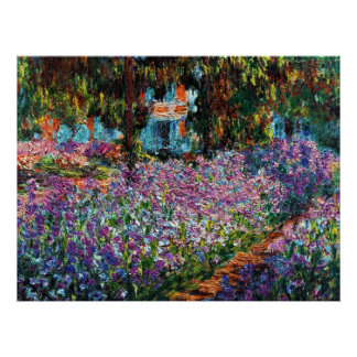 Claude Monet: Íris no jardim de Monet Poster