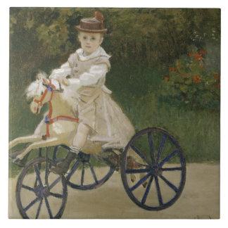 Claude Monet - Jean Monet em seu cavalo do