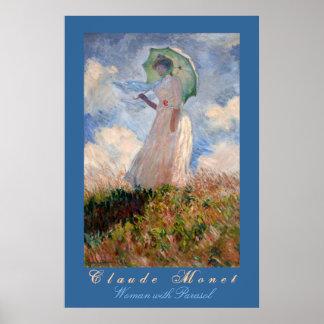 Claude Monet: Mulher com parasol Impressão