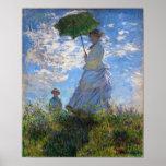 Claude Monet: Mulher com um parasol Impressão