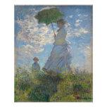 Claude Monet - mulher com um parasol Impressão De Foto