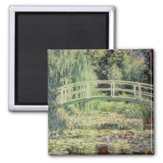 Claude Monet | Nenuphars branco, 1899 Ímã Quadrado