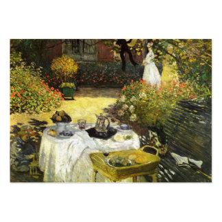 Claude Monet: O almoço Cartões De Visitas