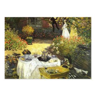 Claude Monet: O almoço Convite 12.7 X 17.78cm