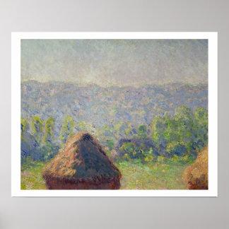 Claude Monet | o fim do verão, em Givern Pôster