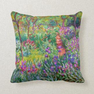Claude Monet: O jardim da íris em Giverny Almofada