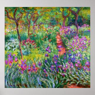 Claude Monet: O jardim da íris em Giverny Pôster