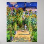 Claude Monet: O jardim de Monet em Vétheuil Impressão
