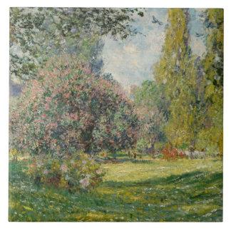 Claude Monet - paisagem: O Parc Monceau
