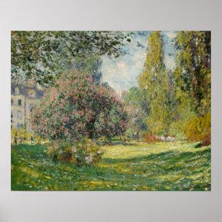 Claude Monet - paisagem: O Parc Monceau Poster