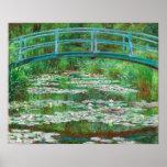 Claude Monet: Passadiço japonês Poster
