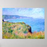Claude Monet: Penhasco perto de Pourville Posteres