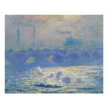 Claude Monet - ponte de Waterloo Poster