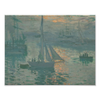 Claude Monet - por do sol (marinho) Impressão De Foto