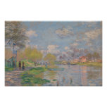 Claude Monet - primavera pelo Seine Poster
