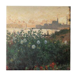 Claude Monet - Riverbank florescido Argenteuil
