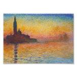 Claude Monet - San Giorgio Maggiore no crepúsculo Impressão De Fotos